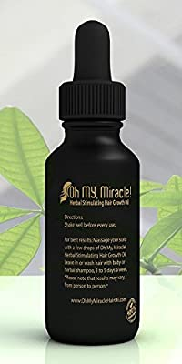 Oh My, Miracle! Herbal Stimulating Hair Growth Oil (2-month supply) Anti-Hair Loss, For All Hair Types, Men, Women, and Children