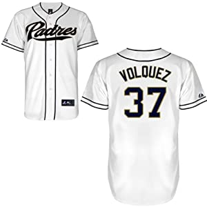 Edinson Volquez San Diego Padres Home Replica Jersey by Majestic by Majestic