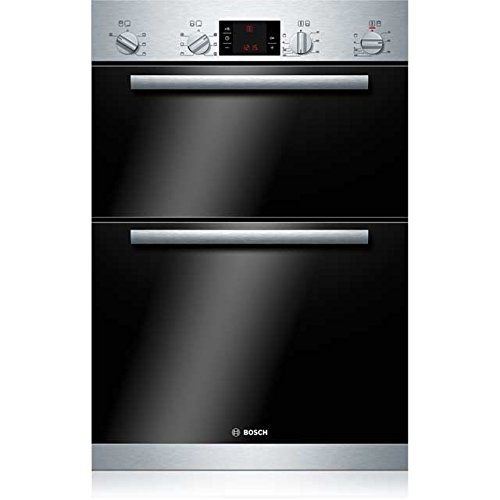Bosch Serie 4 HBM43B150B Built In Double Oven - Brushed Steel. It Will Perfeclty Look Great Built Into Your Kitchen