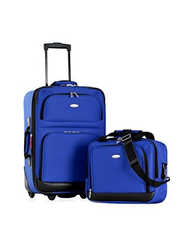 Olympia USA Let's Travel! 2-Piece Carry-On Luggage Set, Blue