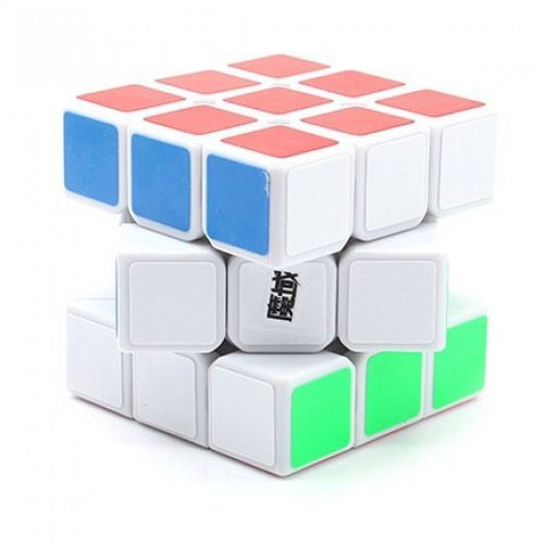 MoYu YJ Weilong 3 x 3 x 3 White Speed Cube Puzzle - 1