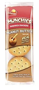 Munchies Peanut Butter Toast Crackers, 1.42oz Bags (96 Pack)