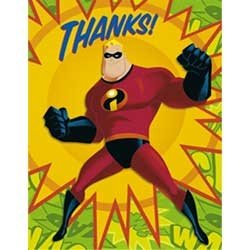 The Incredibles Thank You Notes 8ct