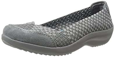 Skechers Women's Savor Just Weave It Walking Shoe,Charcoal,5.5 M US