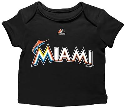 MLB Youth Miami Marlins Envelope Tee, Black
