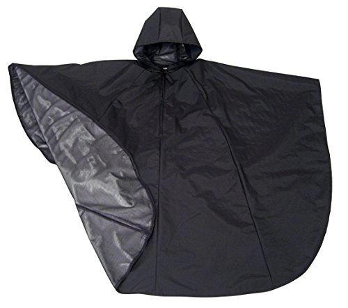 Waterproof Hooded Rain Poncho for Wheelchair Users (Black) (Wheelchair Clothing compare prices)
