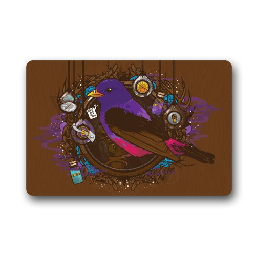 """Purple Bird Custom Door Mats Indoor Outdoor House Doormat 23.6""""L x 15.7""""W"""