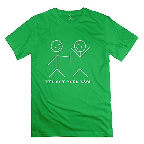 Tgrj Men'S T-Shirts - New Design Ive Back T-Shirt Forestgreen Size M