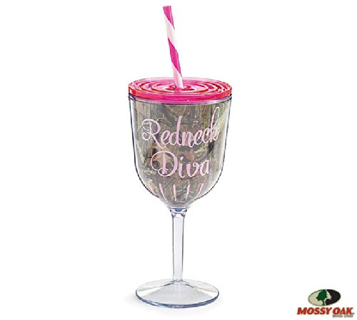 Insulated Wine Glass With Straw front-455268