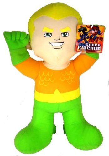 "DC Comics Warner Brothers 9"" Plush Baby Aquaman Super Hero Plush Doll Mint with Tags"