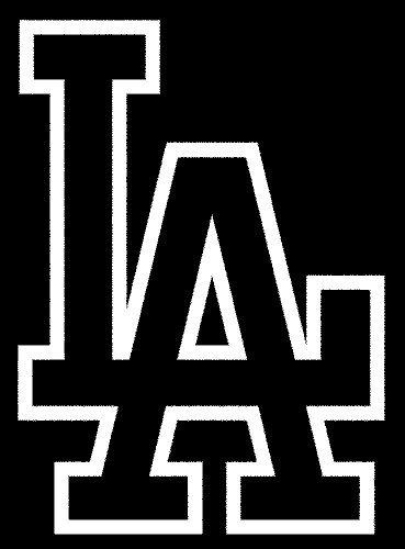 Dodgers Logo Black And White