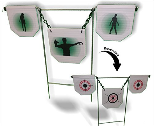 ZOMBIE ATTACK Target - Airsoft, BBs, Foam Darts - FlipGong (Spinner Target For Bb Gun compare prices)