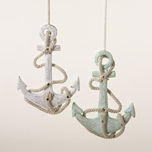 45-Seaside-Escape-Glittering-Green-Wooden-Anchor-Decorative-Christmas-Ornament