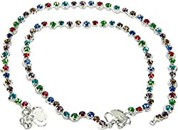 Charms Diamond Studded Multicolor Anklet For Women/Girls