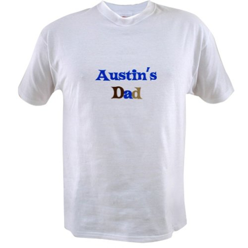Personalized Austin'S Dad Father'S Day Shirt - Customize With Any Boy Or Girl Name - New Baby And Christmas Collection front-896214