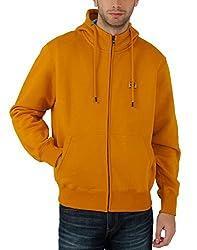 Fahrenheit Men's Fleece Sweat Shirt (8903942245541_Yellow_XX-Large)