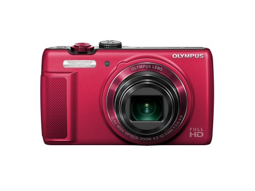 Olympus SH-21 Digital Zoom Camera - Red (16MP, 12.5x Super-Wide Optical Zoom) 3 inch LCD Touch Panel