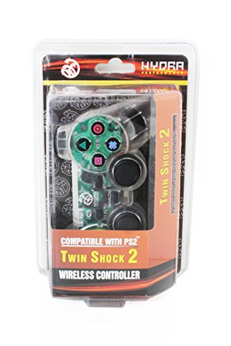 Hydra Performance® Wireless Controller 2.4G Clear White Compatible with Sony Playstation 2 PS2 (Sony Ps2 Wireless Controller compare prices)