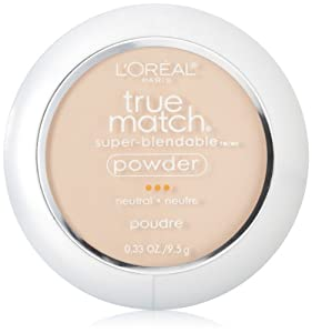 L'Oreal Paris True Match Super-Blendable Powder, Soft Ivory, 0.33 Ounce