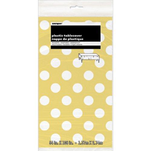 Nappe en plastique 54 « X 108 »-tournesol points décoratifs jaunes