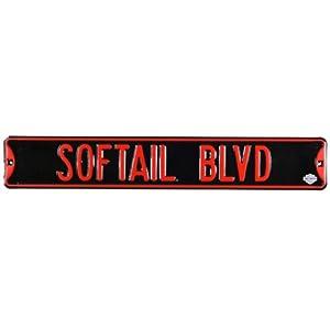 H-D Softail Blvd Metal Sign