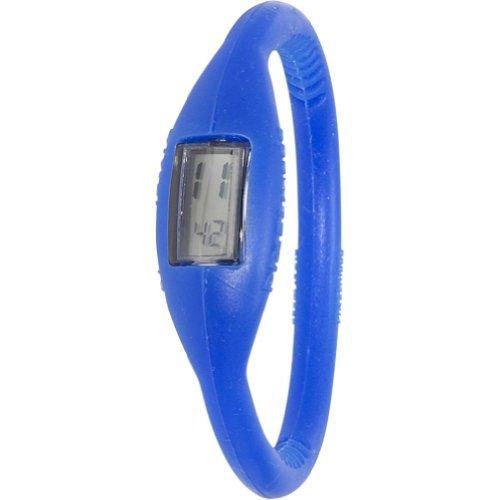 Pixelmoda Digital ROYAL BLUE Color Water Resistant Italian Style Unisex Silicone Watch – MEDIUM 16 CM