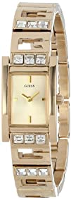 GUESS Womens U0200L2 G-Iconic Sophistication Crystal Gold-Tone