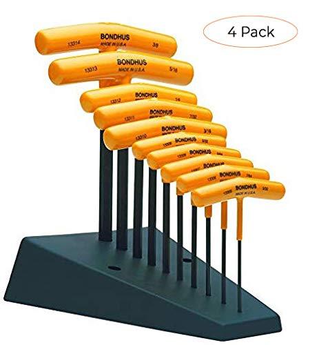 Bondhus 13390 Set of 10 Hex T-handles with Stand, sizes 3/32-3/8-Inch (F?ur ???k) (Tamaño: F?ur ???k)