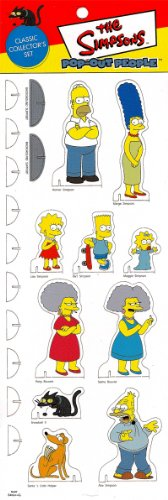 CLASSIC COLLECTOR'S SET - The Simpsons POP-OUT PEOPLE Characters & Background Set from Dark Horse Comics
