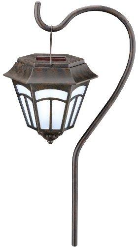 Moonrays 91720 Berwick Style Solar Powered Path Light, Stake or Hanging, 2-Pack