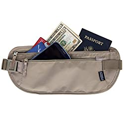 Hidden Money Belt Passport Holder and Travel Wallet with RFID Blocking, Best Undercover Money Belt for Men & Women