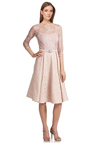 5b5bab18 Teri Jon Sequined Lace Satin 3/4 Sleeve Cocktail Dress