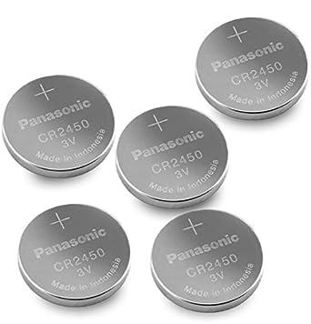Panasonic CR2450 3V Coin Lithium Battery (5Pcs per Pack)