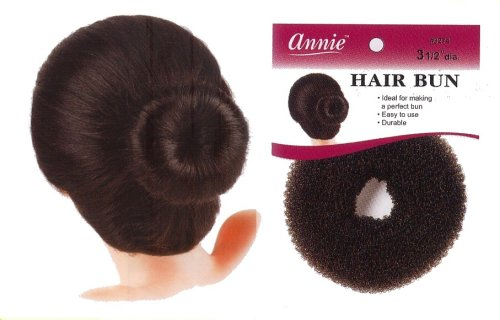 Buy hair bun donut foundation hair bun rat wave chgnon 3 1/2″ diameter black color