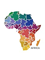 Wall Impact Pegatina Map Of Africa