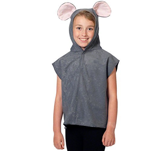 Kids Childs Mouse Tabbard Fancy Dress Animal Costume- One Size Fits All