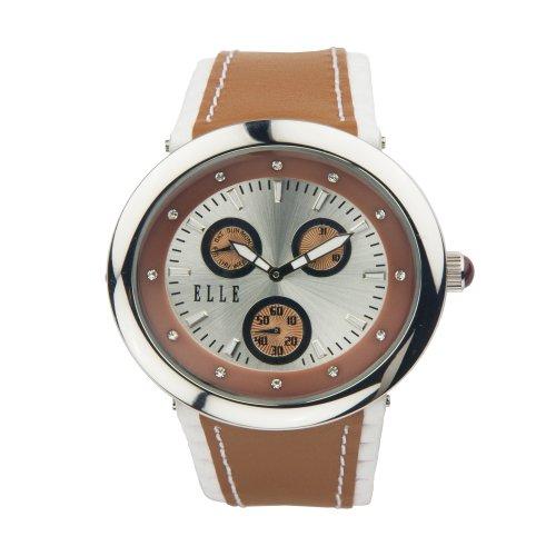 ELLETIME Women's TW000J9400 Beige Leather Calendar Watch