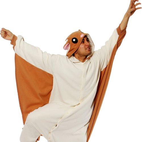 Flying Squirrel Kigurumi - Adult Halloween Costumes Pajama front-1052160