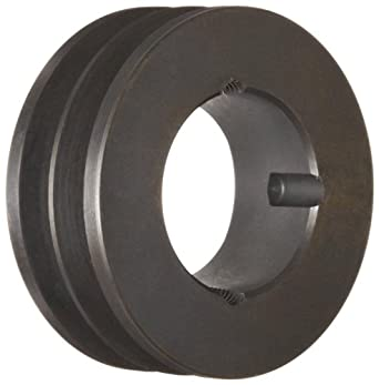 "Martin 2 3V 280 TB Hi-Cap TB Sheave, 3V Belt Section, 2 Grooves, 1108 Bushing required, Class 30 Gray Cast Iron, 2.8"" OD, 8860 max rpm, 2.75"" Pitch Diameter"