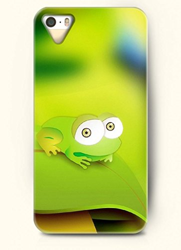 Oofit Phone Case Design With Lovely Little Frog For Apple Iphone 5 5S 5G front-475289