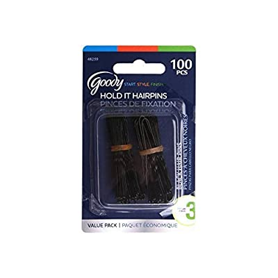 Goody Styling Essentials Styling Black Hair Pins, 100 Count