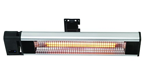 Ventamatic H1019 Infrared Wall or Ceiling Mounted Electric Patio Heater, 1500W (Outdoor Ceiling Heater compare prices)