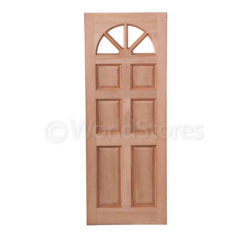 LPD Carolina Exterior Door - Hardwood - Arched Lites - H 78in x W 33in x D 44mm