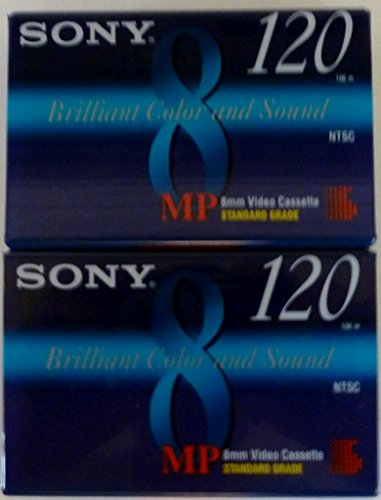 Buy Sony MP 8mm Video Cassette Standard Grade 120 min (2 Pack)