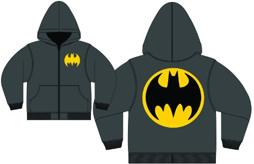 Adult - Batman Logo Black Zip-Up Hoodie Sweatshirt at Gotham City Store