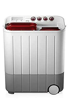 Samsung WT727QPNDMW/XTL Semi-automatic Washing Machine (7.2 Kg, White and Maroon)