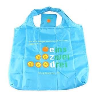 ON SALE! Blue Orange Cartoon Reusable Shopping Bag, Foldable Recycle Bag, Price/Piece