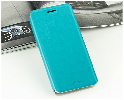 Tarkan Mofi Leather Flip Stand Cover Case For Gionee Elife S5.1 [Blue] [Metal Plate Inside]  available at amazon for Rs.199