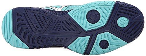 ASICS Women's GEL-Resolution 6 Tennis Shoe, Pool Blue/White/Indigo Blue, 8.5 M US