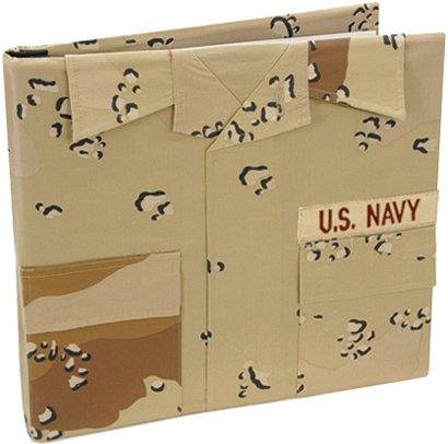 Uniformed U.S. Navy Desert Battle Dress Uniform Keepsake Album